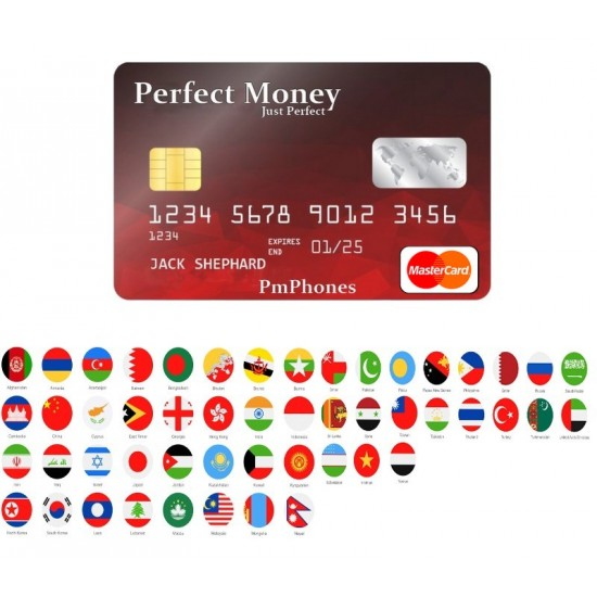 Perfectmoney ATM card (ASIA+Africa) By Mastercard - EURO-USD