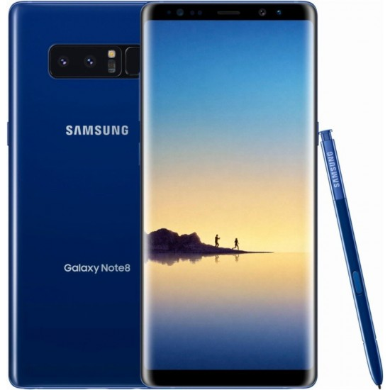 Samsung - Galaxy Note8 4G LTE with 64GB Memory Cell Phone (Unlocked) - Deepsea Blue