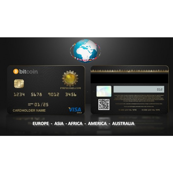 Bitcoin ATM Card (ASIA+AFRICA) EURO By Visa GOLD